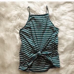 Women's striped old navy tank top with knot